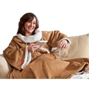 Snug Rug Sherpa är den speciella varianten av filten med ärmar.